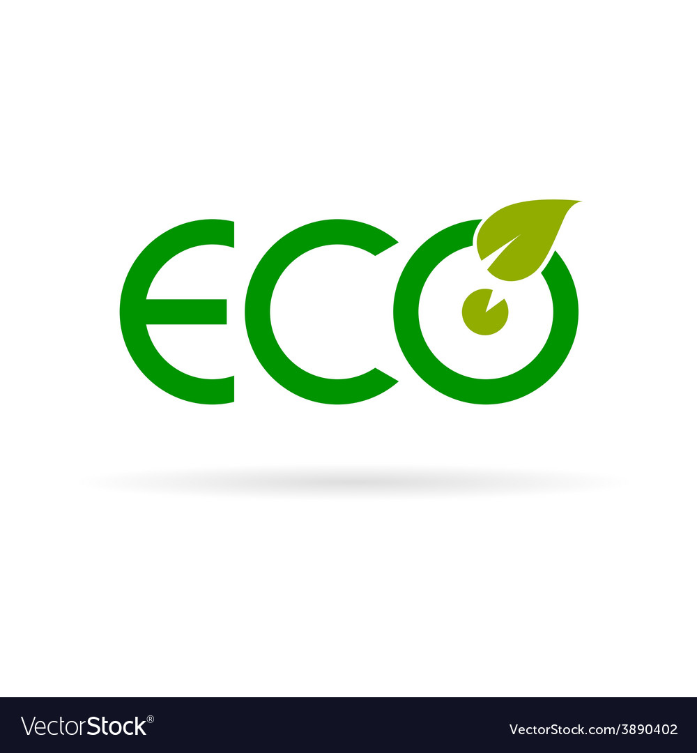 Eco sign color vector   Price: 1 Credit (USD $1)