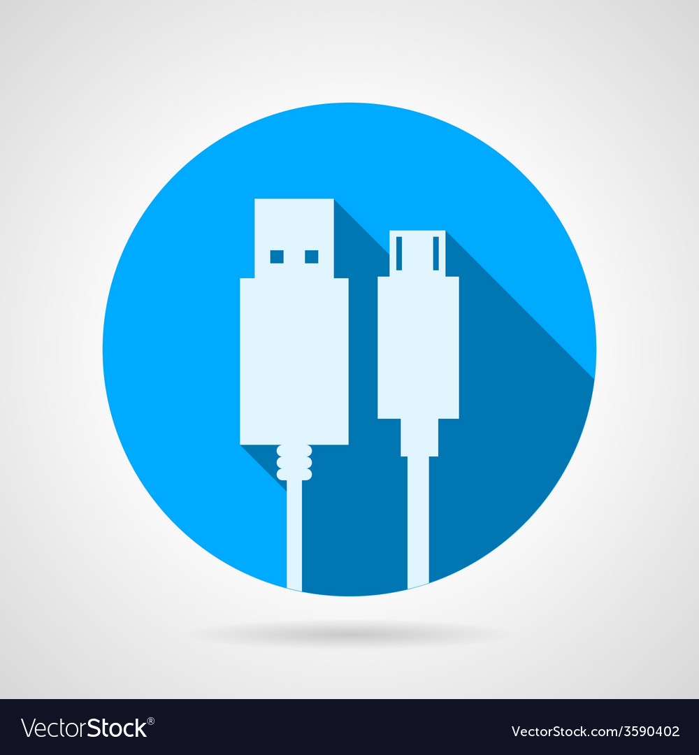 Flat icon for usb cable vector | Price: 1 Credit (USD $1)