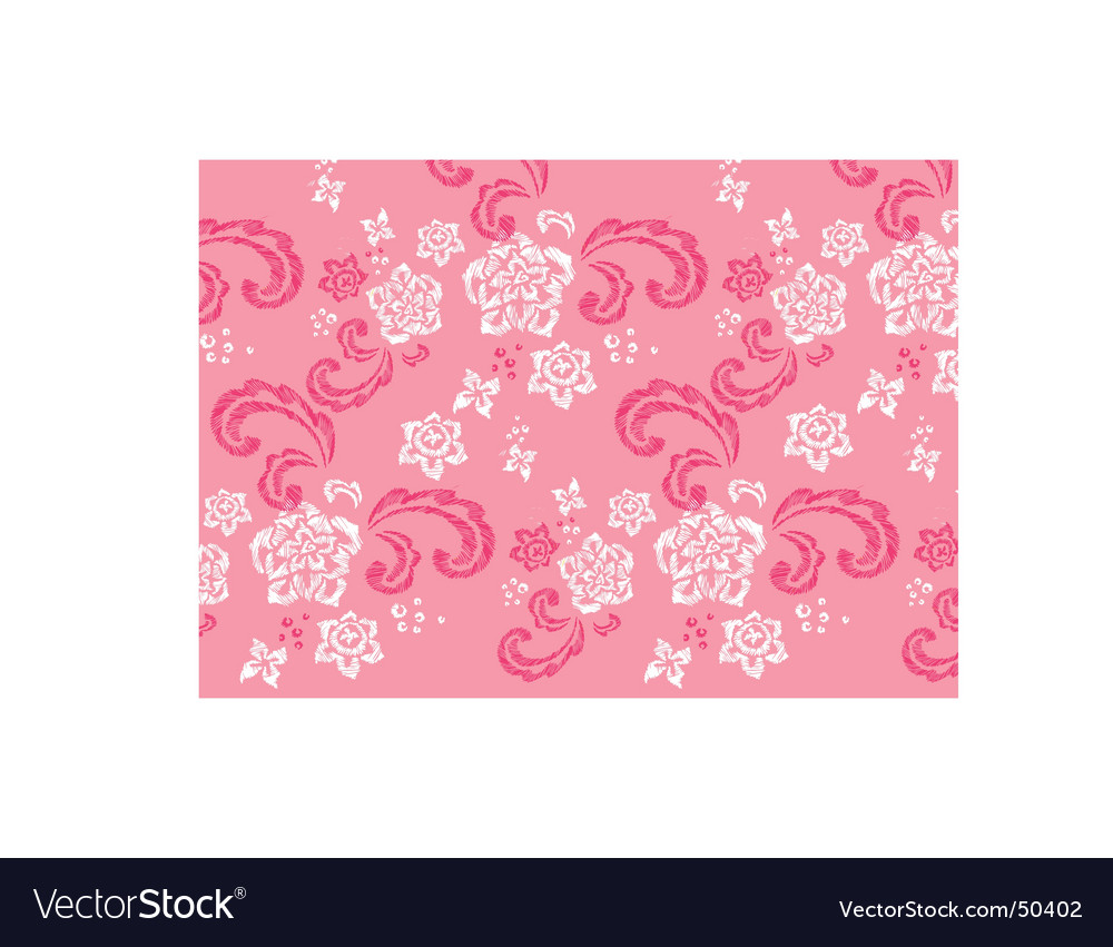 Floral stitched design vector | Price: 1 Credit (USD $1)