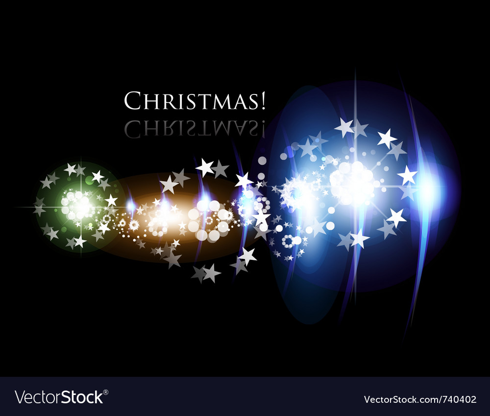 Glowing christmas background vector | Price: 1 Credit (USD $1)