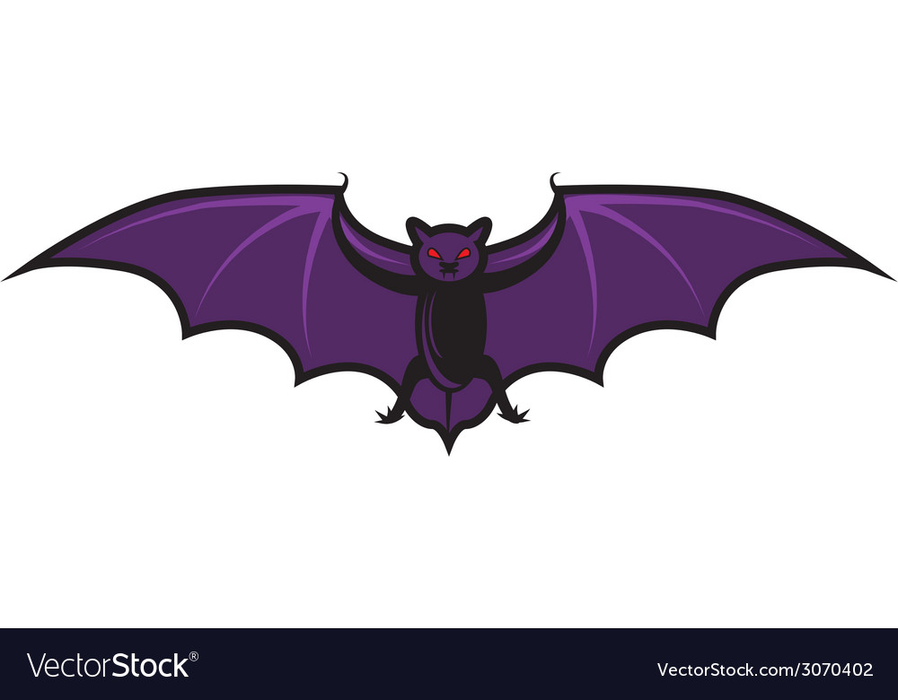 Halloween cartoon bat isolated on white vector | Price: 1 Credit (USD $1)