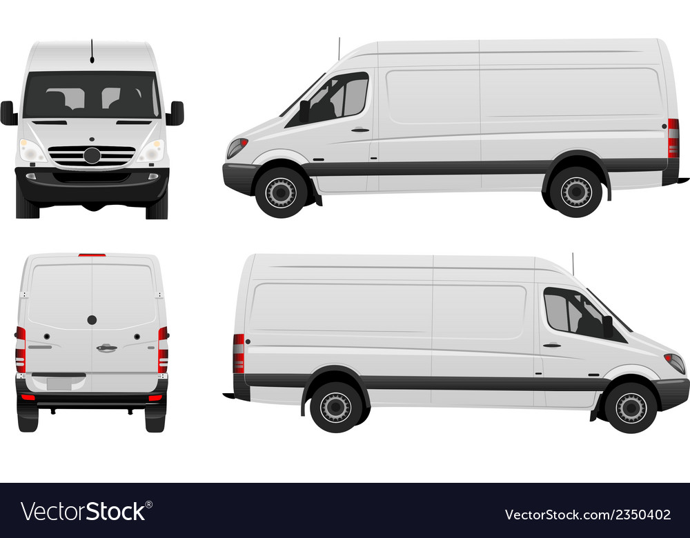 Mercedes van vector | Price: 1 Credit (USD $1)