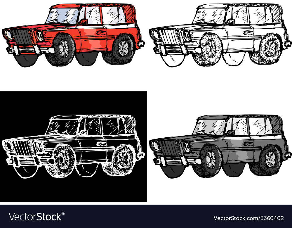 Off-road car vector | Price: 1 Credit (USD $1)