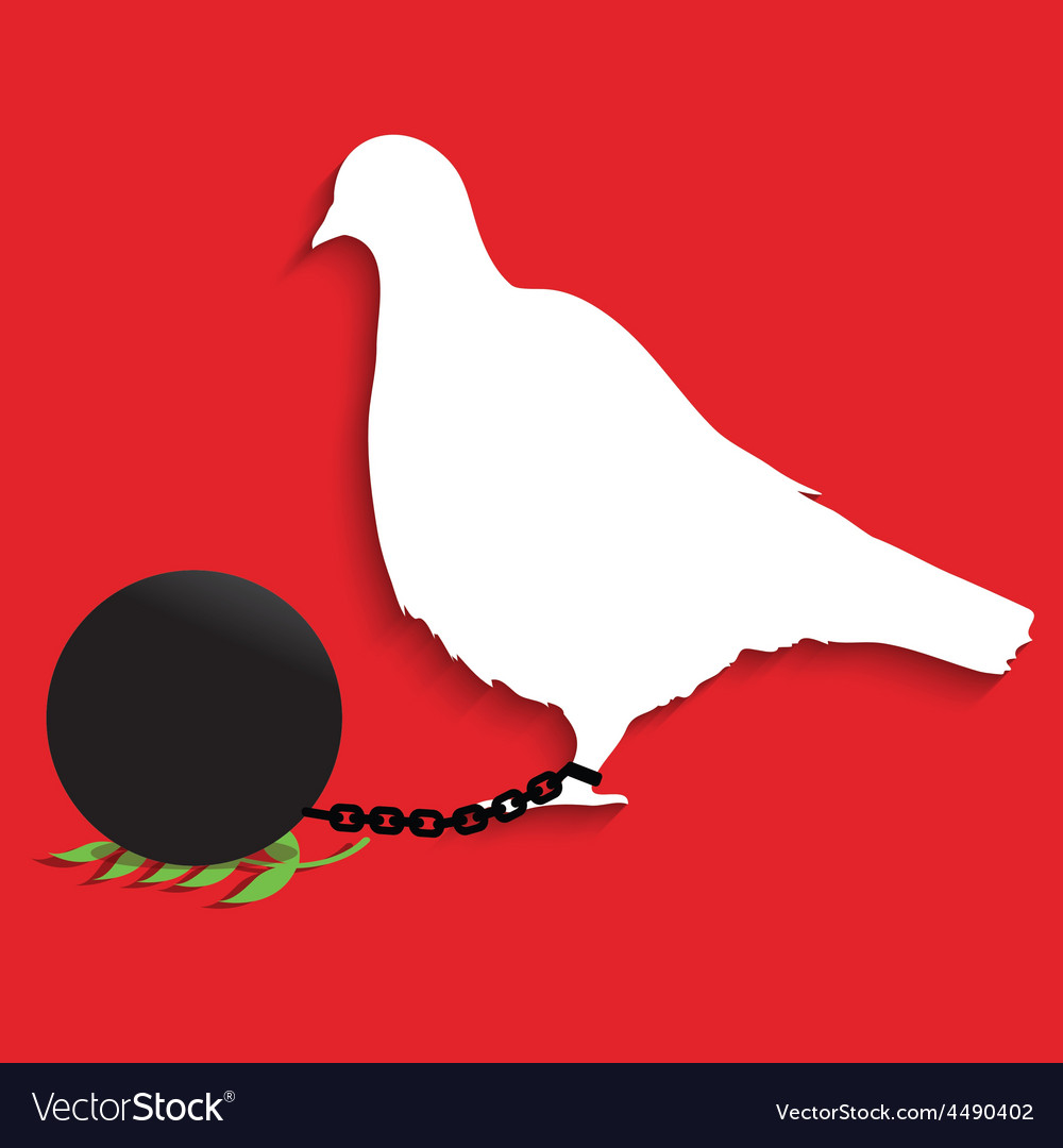 Pigeon of peace vector | Price: 1 Credit (USD $1)