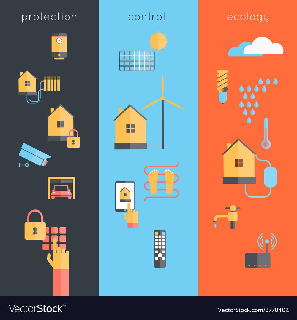 Smart home banner vector | Price: 1 Credit (USD $1)