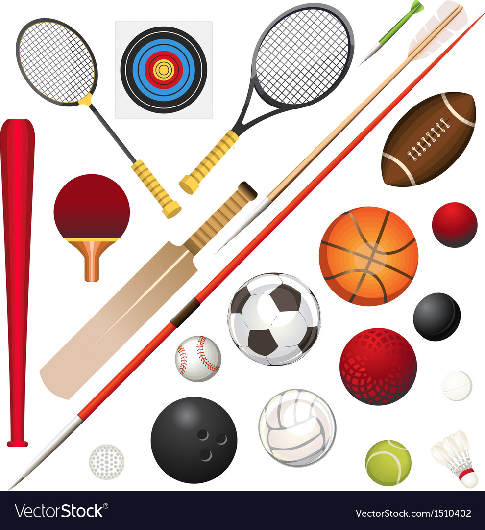 Sports equipment vector | Price: 1 Credit (USD $1)