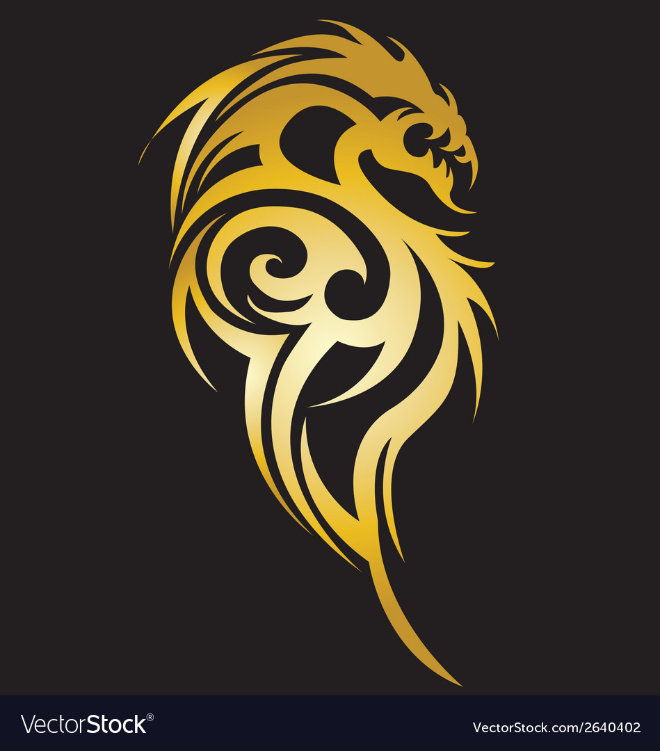 Stylised dragon tattoo vector | Price: 1 Credit (USD $1)