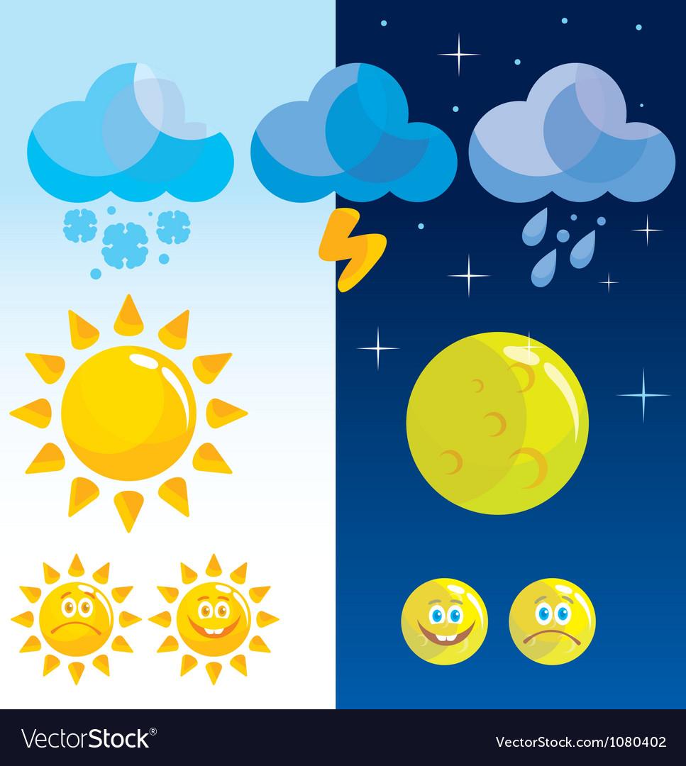 Weather widget vector | Price: 1 Credit (USD $1)