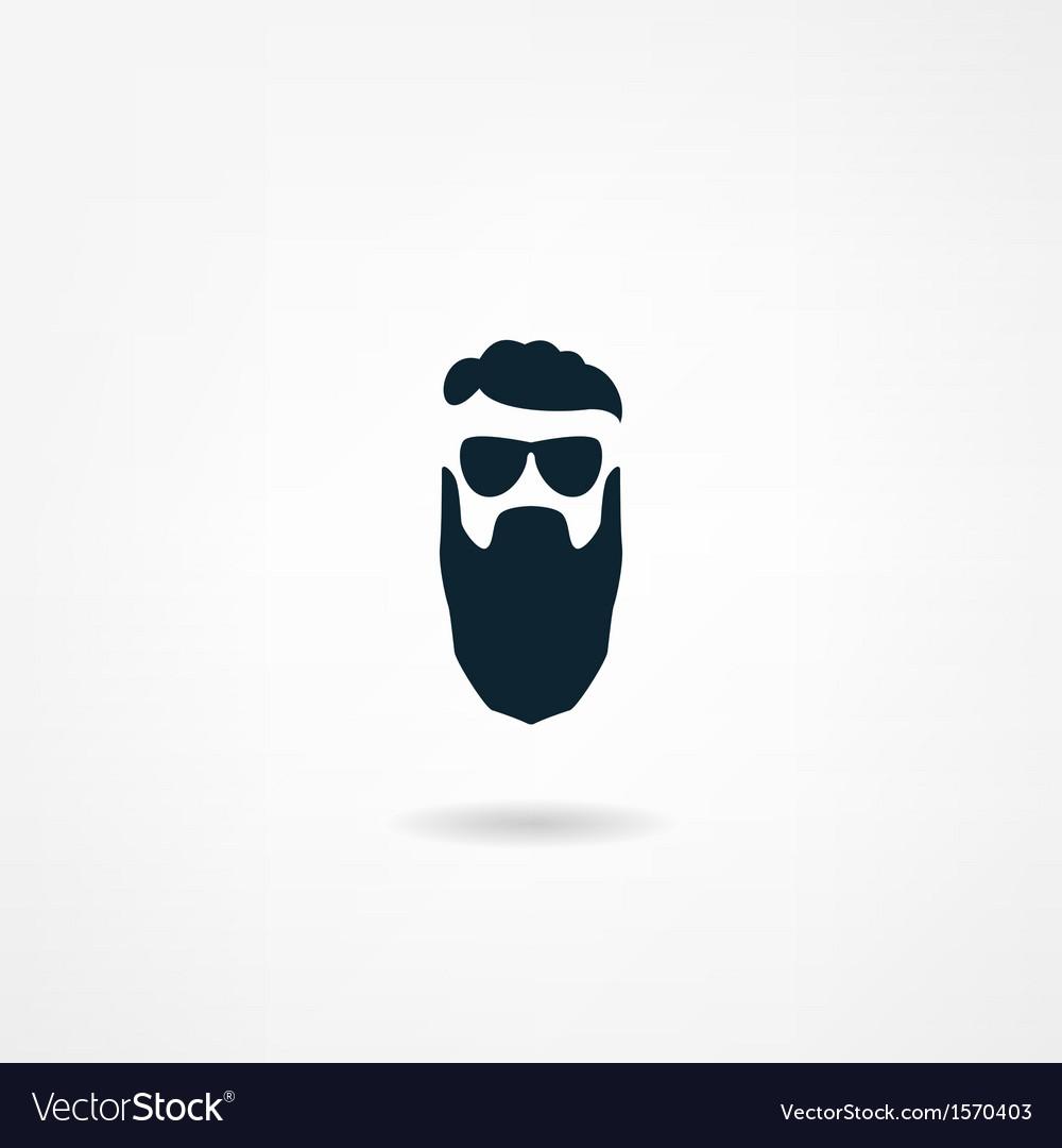 Beard icon vector | Price: 1 Credit (USD $1)