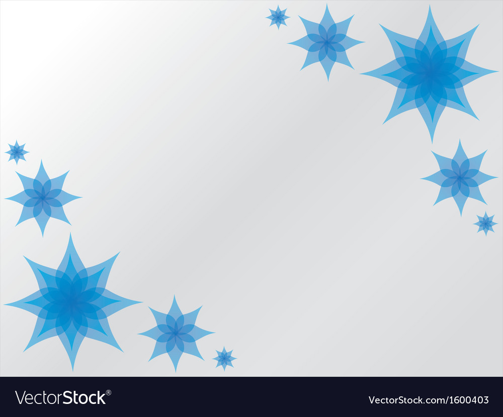 Blue flower background vector | Price: 1 Credit (USD $1)