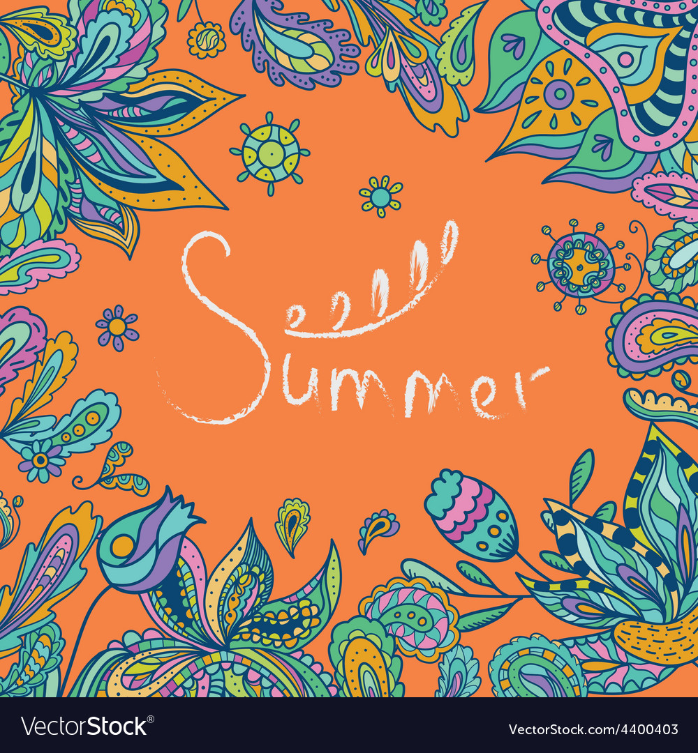 Bright summer indian vector | Price: 1 Credit (USD $1)