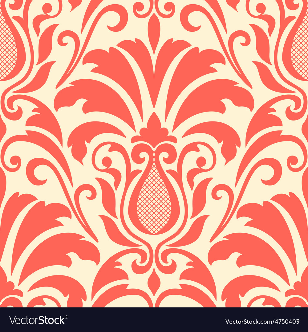 Damask seamless pattern element vector | Price: 1 Credit (USD $1)