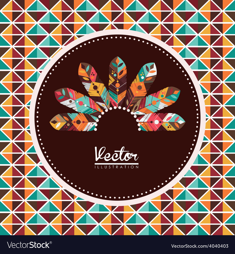 Feather design vector | Price: 1 Credit (USD $1)