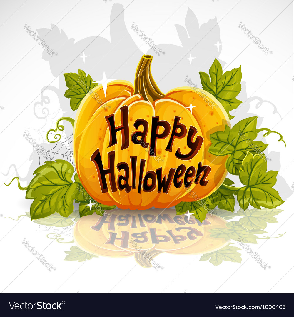 Happy halloween cut out pumpkin banner vector | Price: 1 Credit (USD $1)