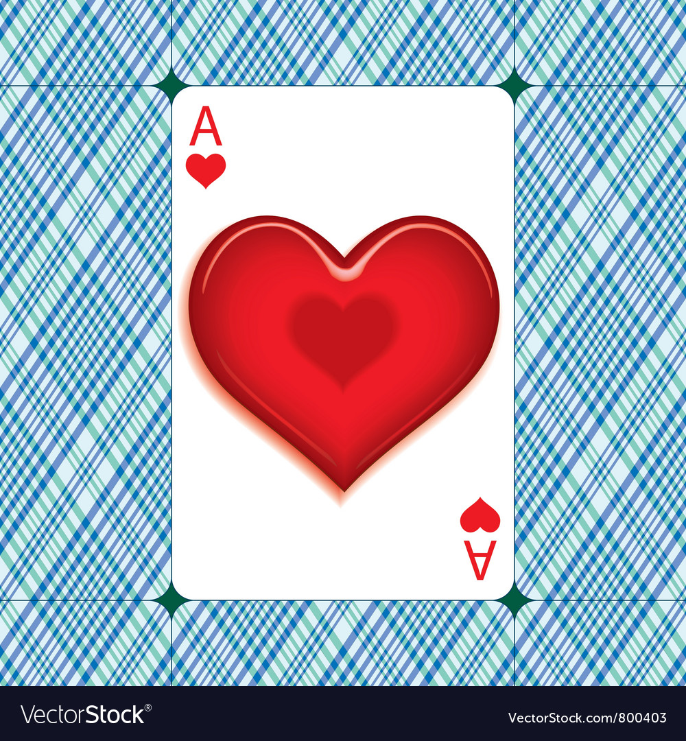 Heart on the ace vector | Price: 1 Credit (USD $1)