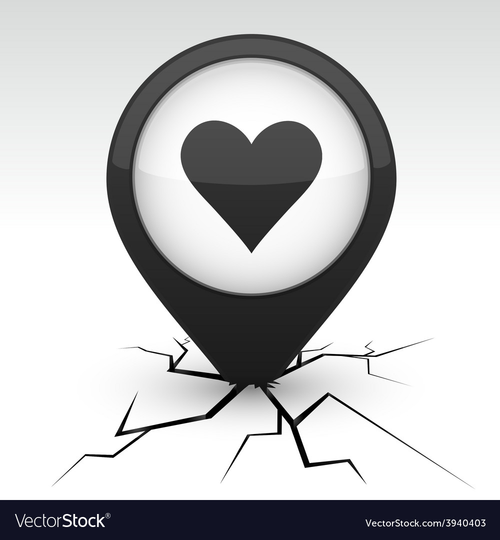 Love icon in crack vector | Price: 1 Credit (USD $1)