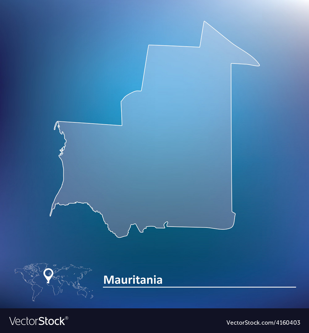 Map of mauritania vector | Price: 1 Credit (USD $1)