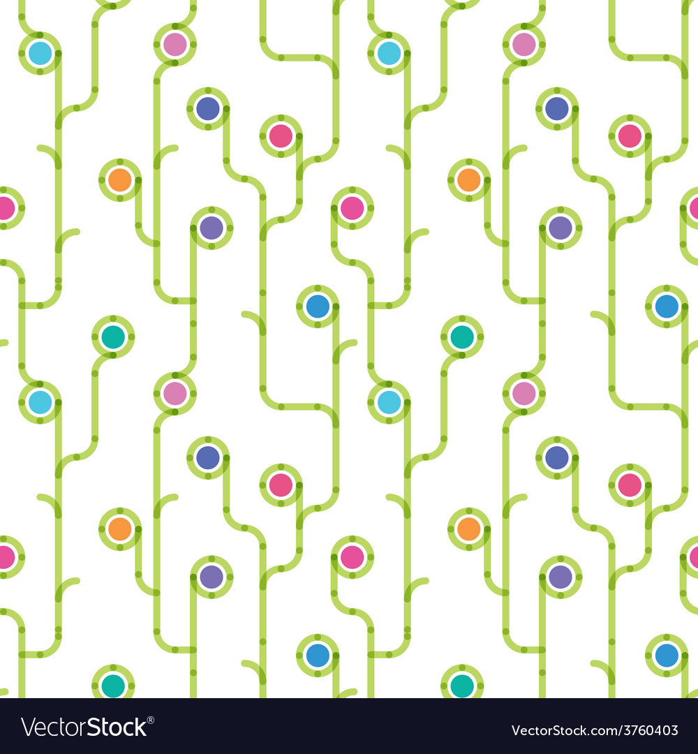 Meadow of the stylized flowers a seamless pattern vector   Price: 1 Credit (USD $1)