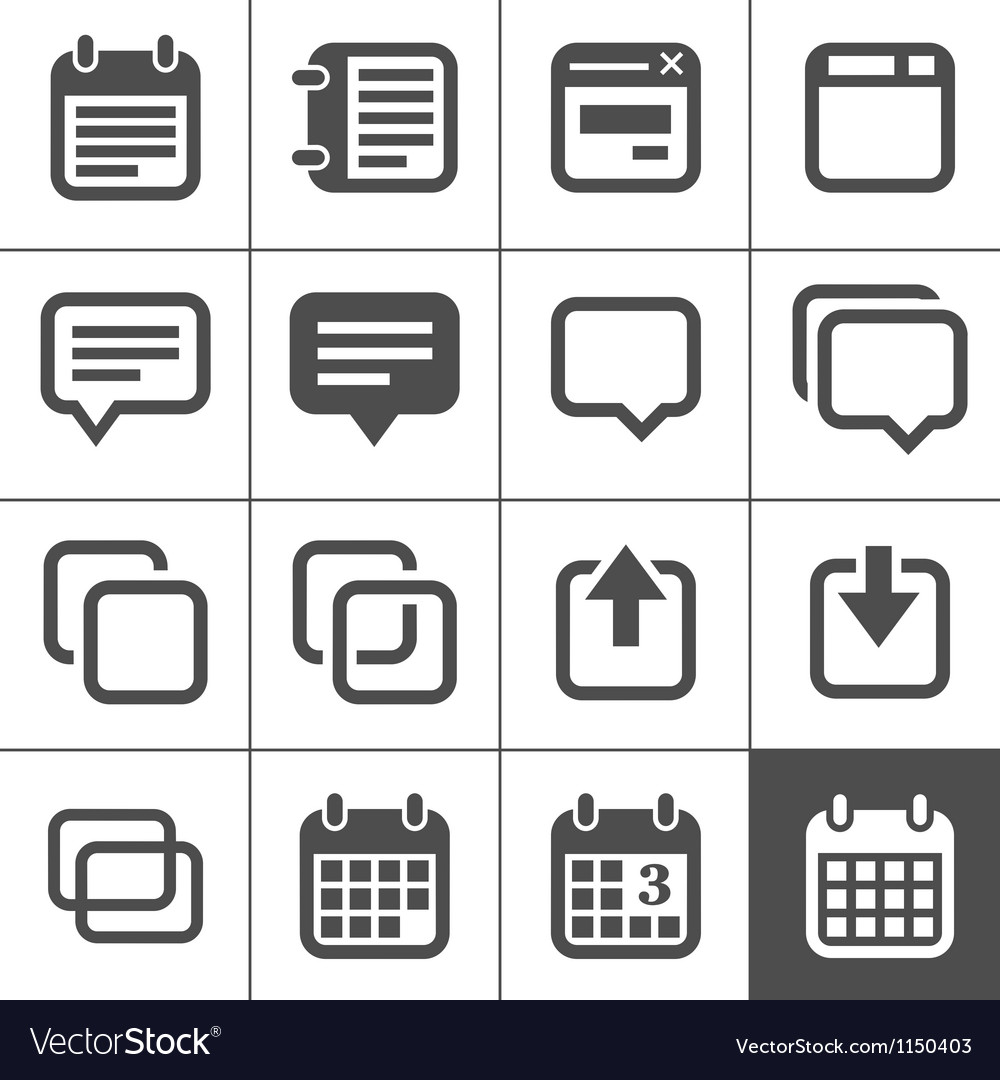 Notes memos and plans icons vector | Price: 1 Credit (USD $1)