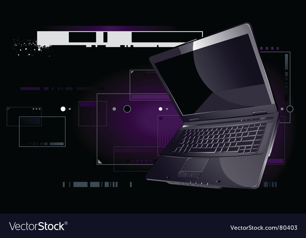 Realistic laptop vector | Price: 3 Credit (USD $3)