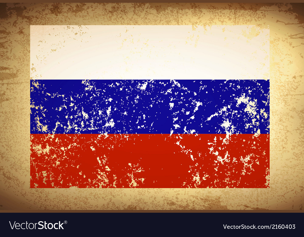 Russian federation vintage flag vector | Price: 1 Credit (USD $1)