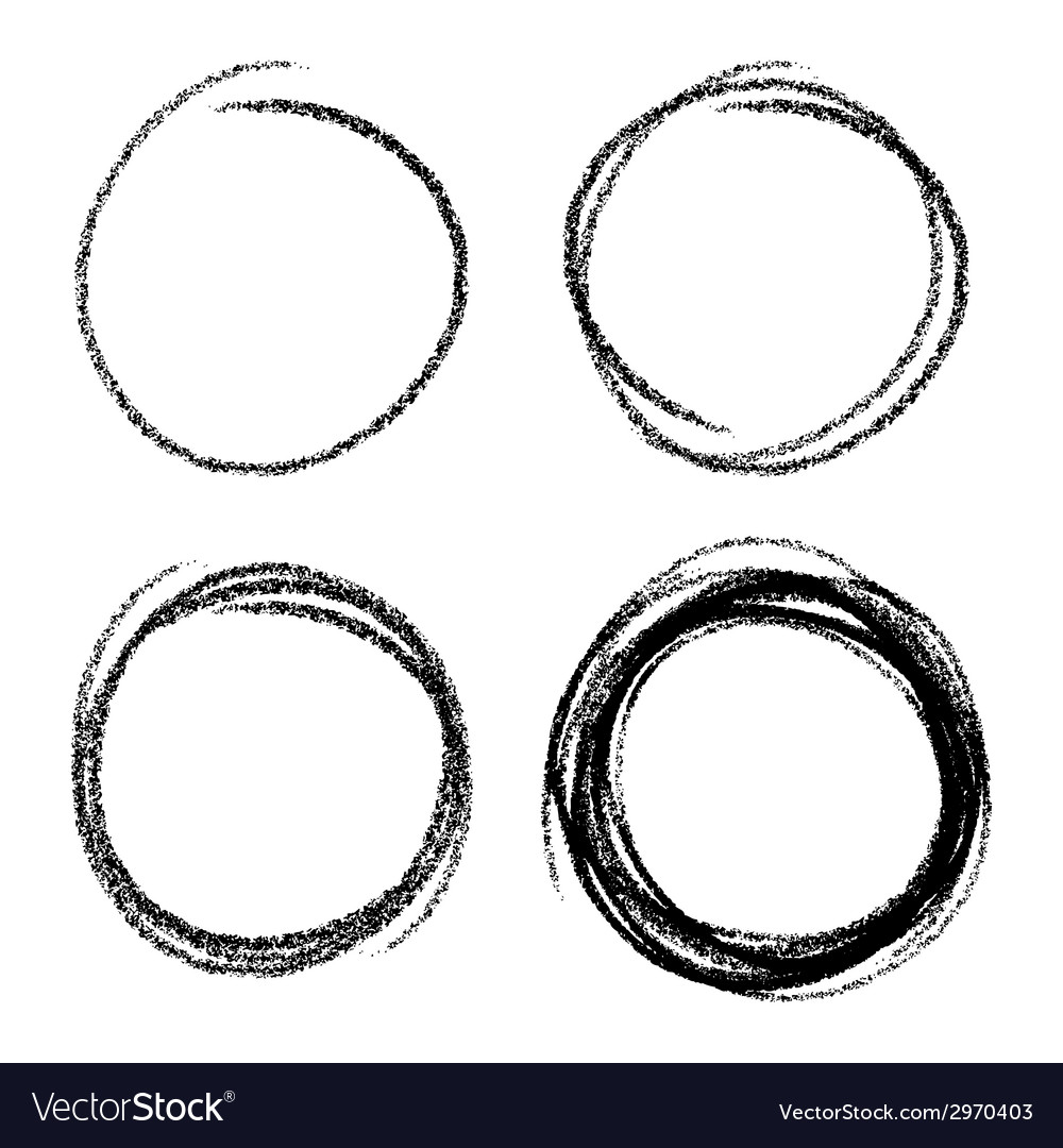 Set of hand drawn scribble circles design elements vector | Price: 1 Credit (USD $1)