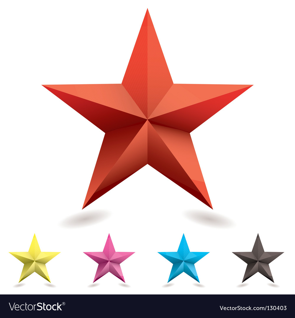 Web icon star shape vector | Price: 1 Credit (USD $1)
