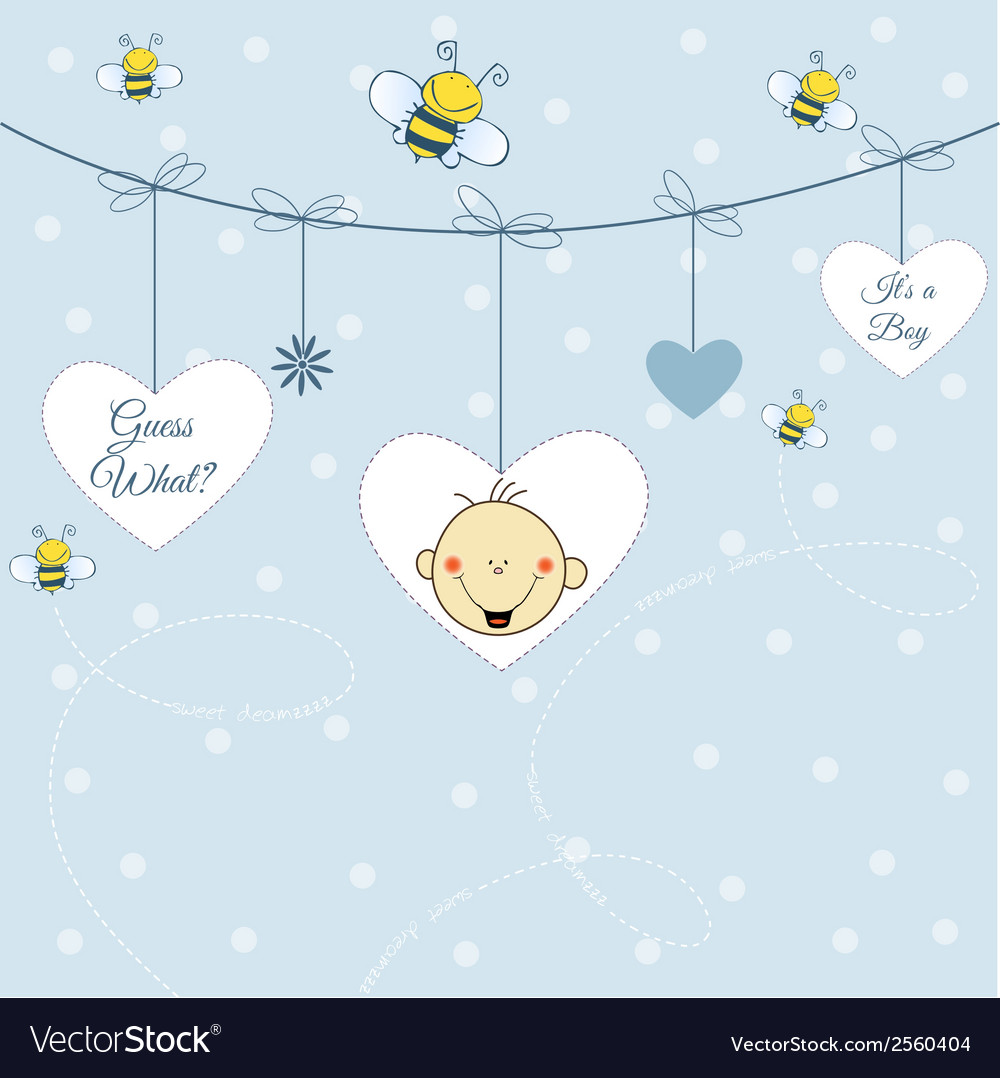Baby boy announcement vector | Price: 1 Credit (USD $1)