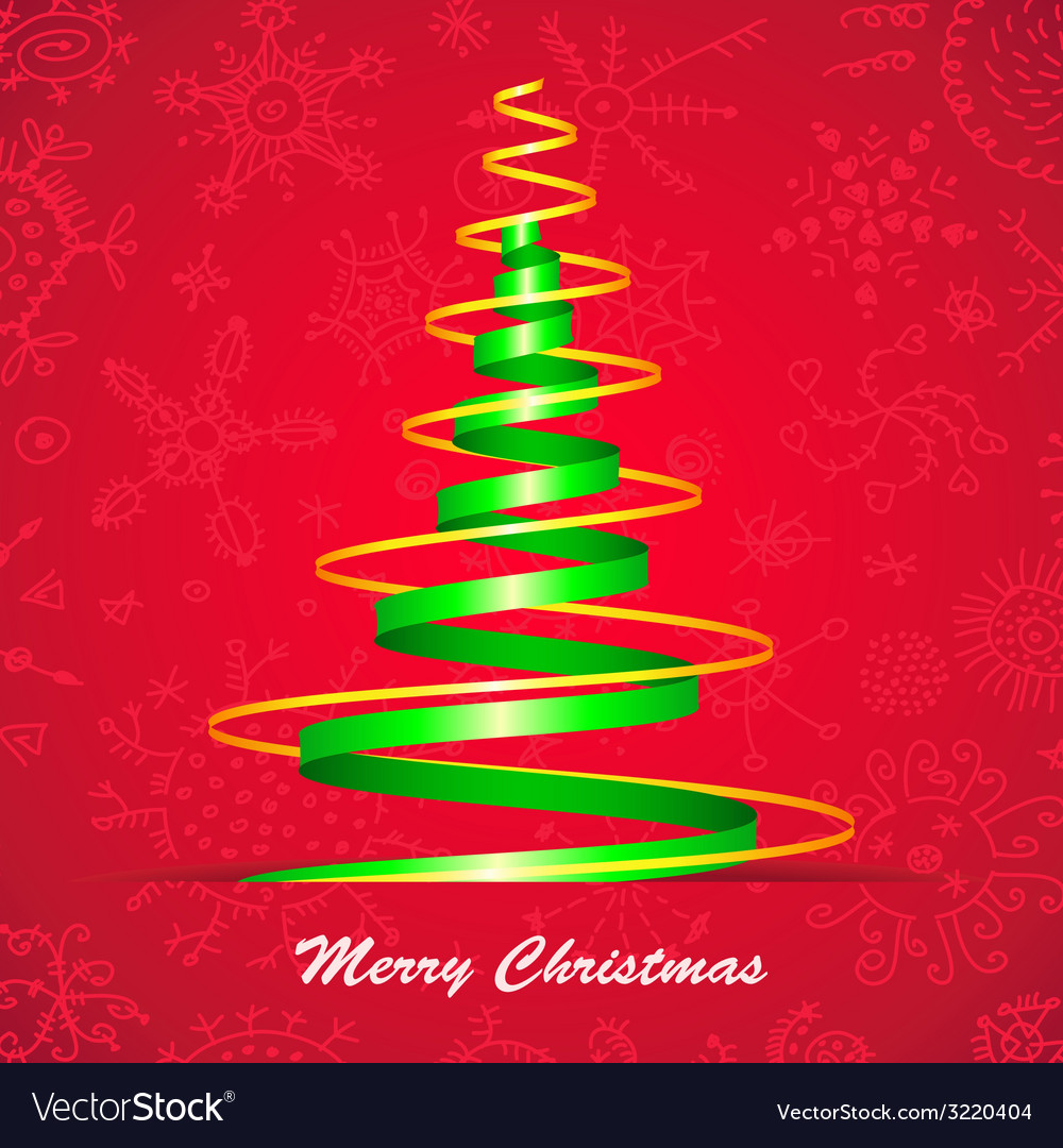 Christmas tree card vector | Price: 1 Credit (USD $1)