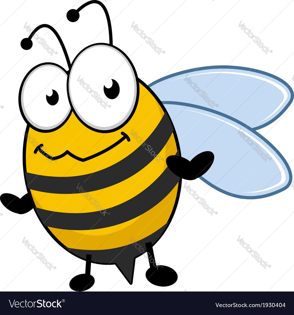 Cute little honey bee with a bemused expression vector | Price: 1 Credit (USD $1)