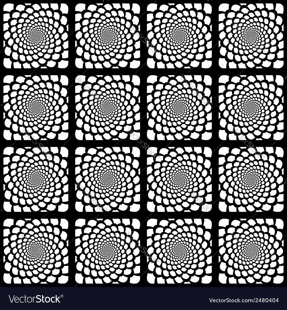 Design seamless monochrome spiral pattern vector | Price: 1 Credit (USD $1)