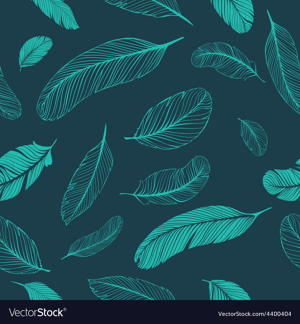 Feathers dark pattern vector | Price: 1 Credit (USD $1)