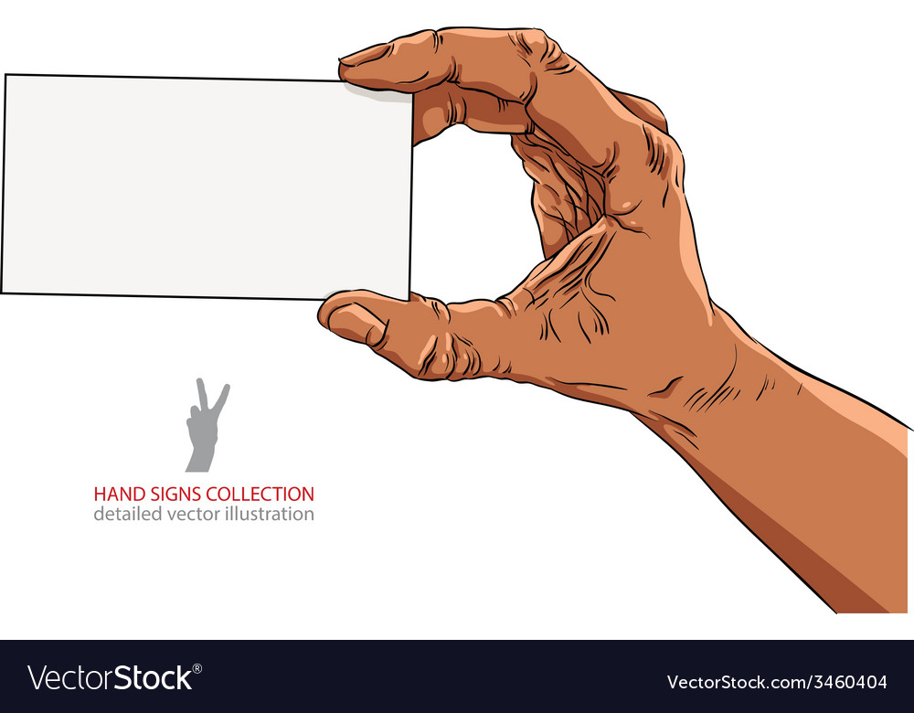 Hand showing business card african ethnicity vector | Price: 1 Credit (USD $1)