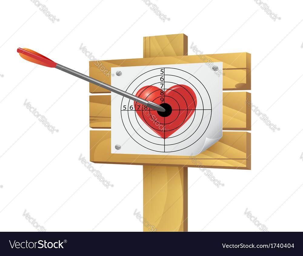 Heart target vector | Price: 1 Credit (USD $1)