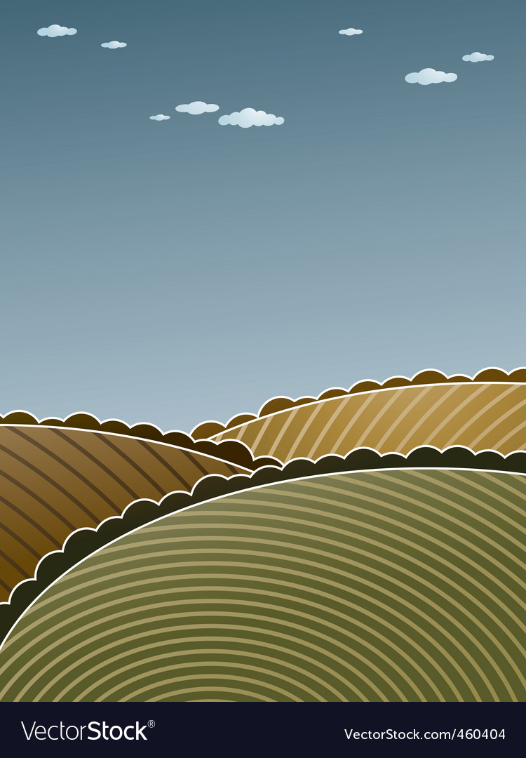 Hilly landscape vector | Price: 1 Credit (USD $1)