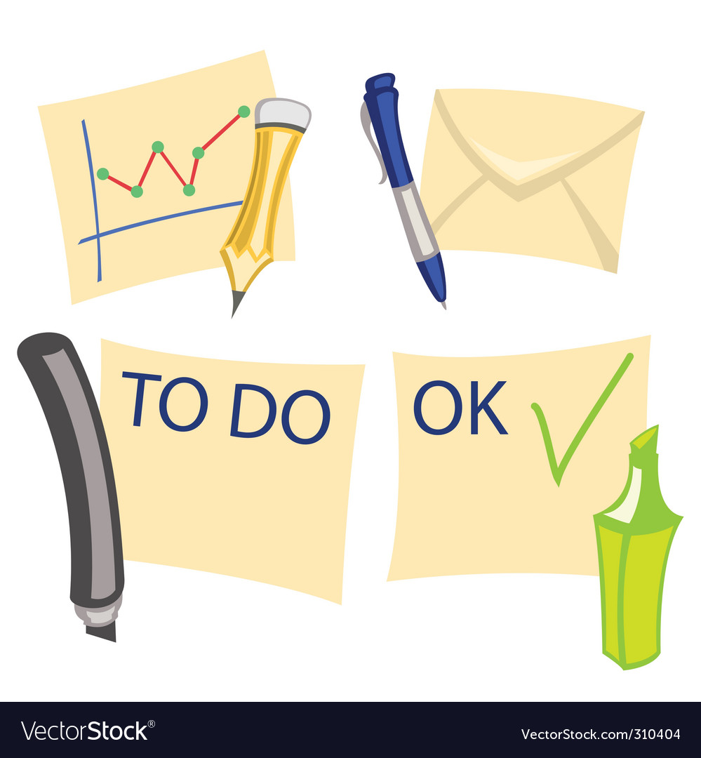 Notes icons vector   Price: 1 Credit (USD $1)