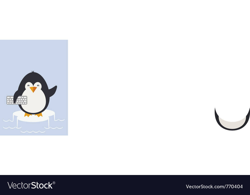 Penguin programmer vector | Price: 1 Credit (USD $1)