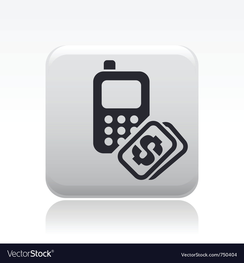 Phone cost icon vector | Price: 1 Credit (USD $1)