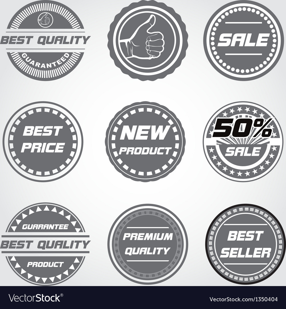 Product and sale label vector | Price: 1 Credit (USD $1)