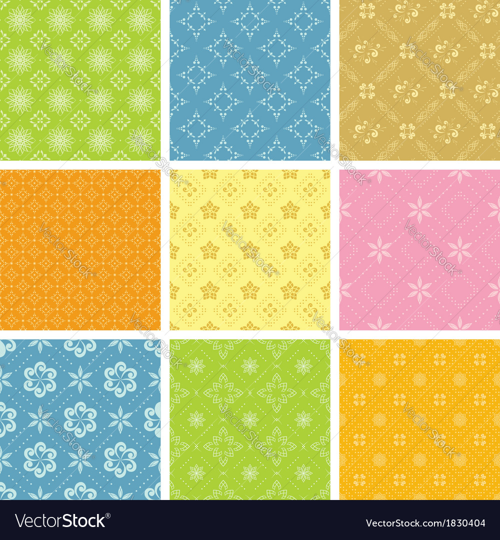 Set of light various patterns for background vector | Price: 1 Credit (USD $1)