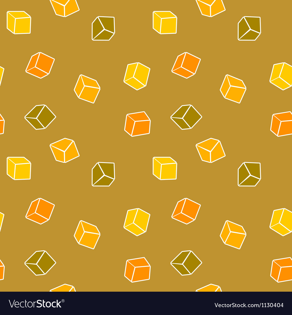 Simple cubes seamless pattern vector | Price: 1 Credit (USD $1)