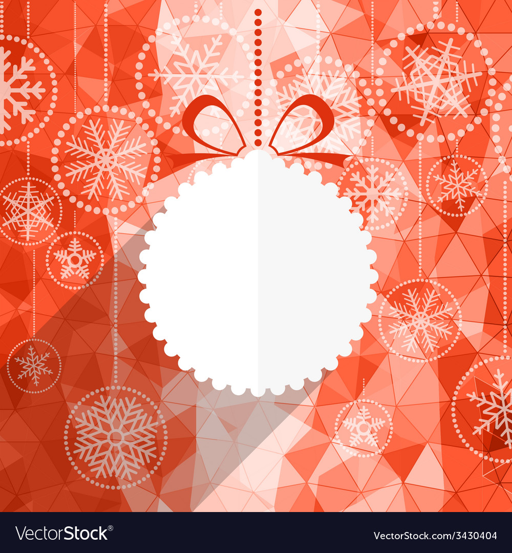 White christmas bauble and snowflake background vector | Price: 1 Credit (USD $1)