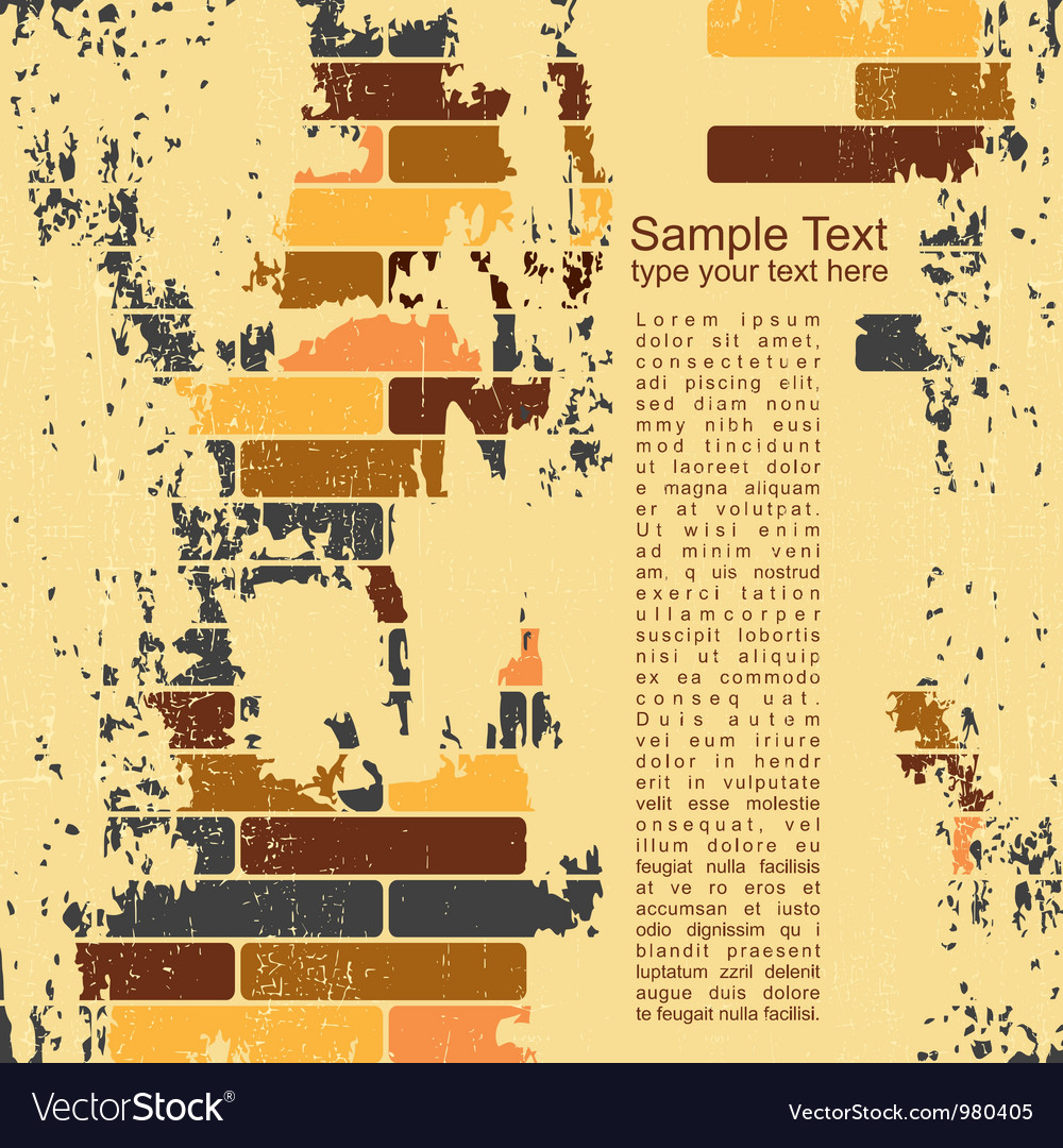 Abstract grunge wall background vector | Price: 1 Credit (USD $1)