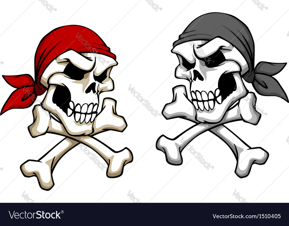 Danger pirate skull vector | Price: 1 Credit (USD $1)