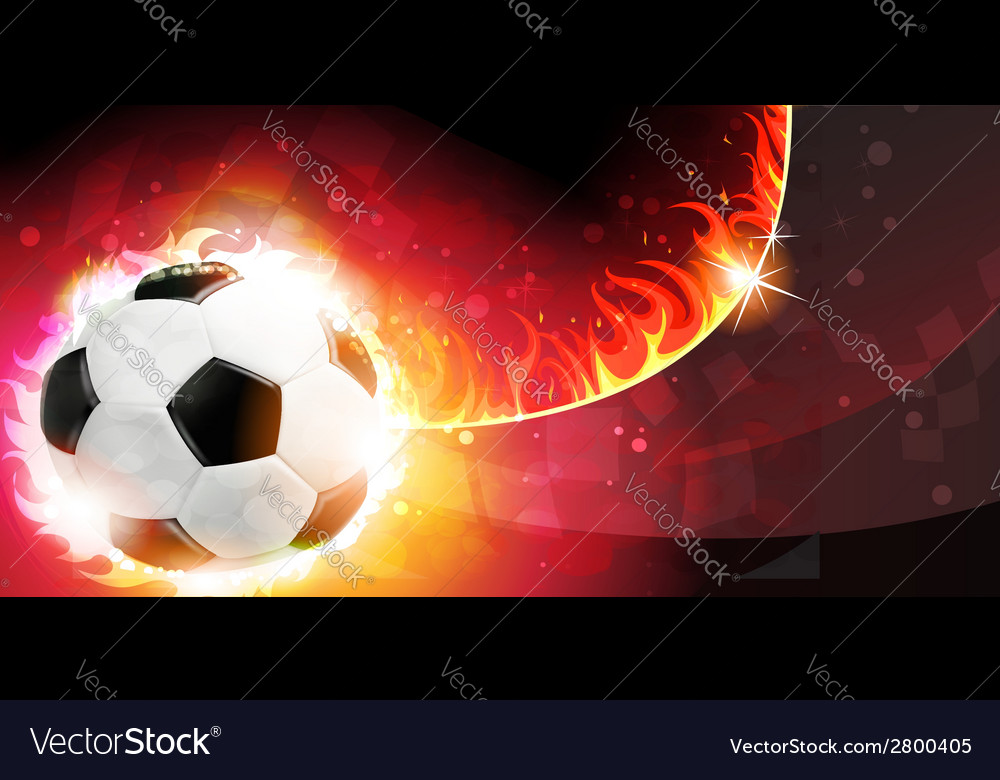 Flaming soccer ball vector | Price: 1 Credit (USD $1)