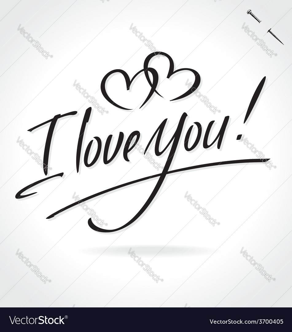 I love you hand lettering vector | Price: 1 Credit (USD $1)