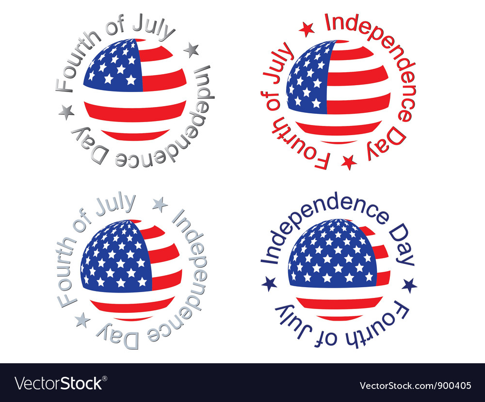 Independence day signs vector | Price: 1 Credit (USD $1)