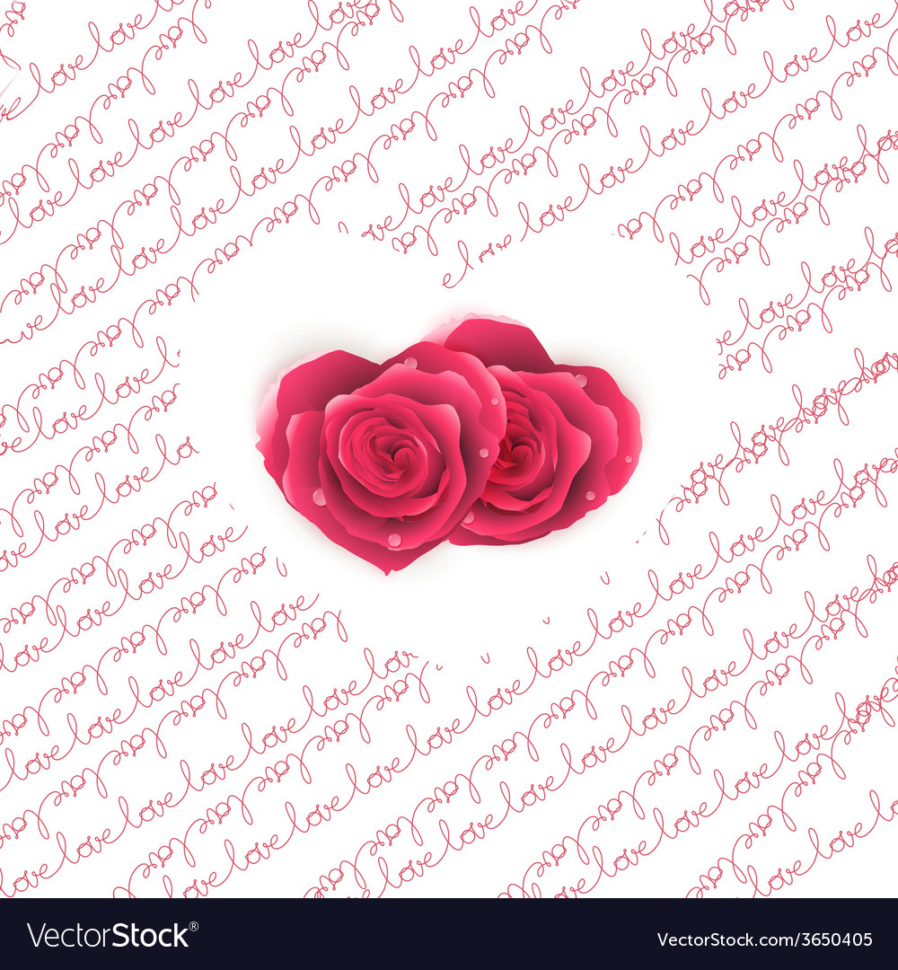 Love note card - text pattern with hearts eps 10 vector | Price: 1 Credit (USD $1)