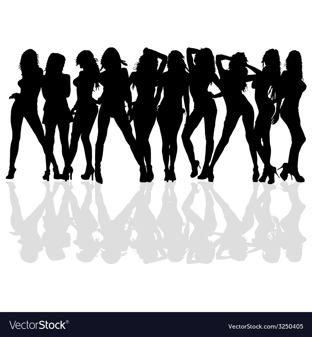 Sexy and beauty girl silhouette vector | Price: 1 Credit (USD $1)