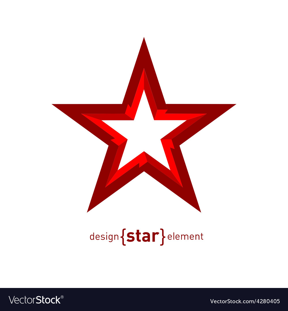 Star in perspective abstract design element vector   Price: 1 Credit (USD $1)